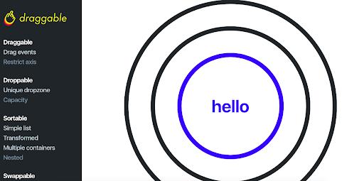 Draggable interactive website design