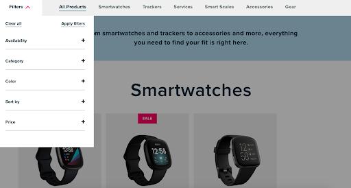 Fitbit interactive website design