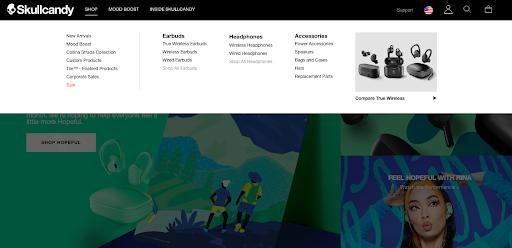 Skullcandy interactive website design